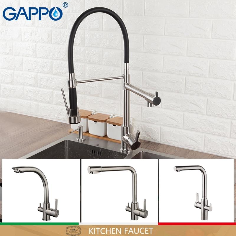 GAPPO, кухонный кран, водопроводный кран для кухни, смеситель для воды, кухонные краны, водопроводный кран с одной ручкой