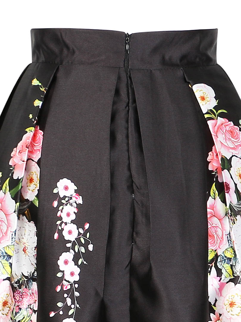 Best Sellers Ball Gown Skirts Women Cherry blossoms Print High Waist ...
