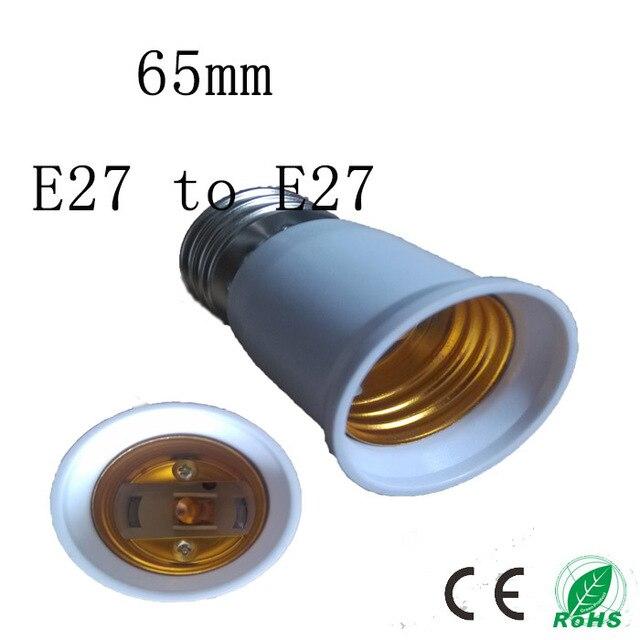 5pcs/lot The high quality 65mm E27 to E27 socket,Elongation type lamp holder,Colour and lustre is white,5pcs/lot
