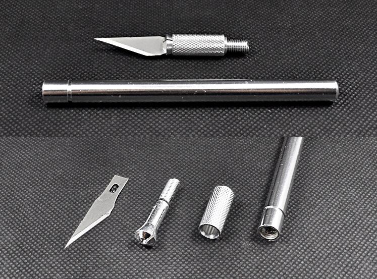 Metalinė rankenėlė skalpeliu, rankinis peilis, pjaustytuvas, - Rankiniai įrankiai - Nuotrauka 4