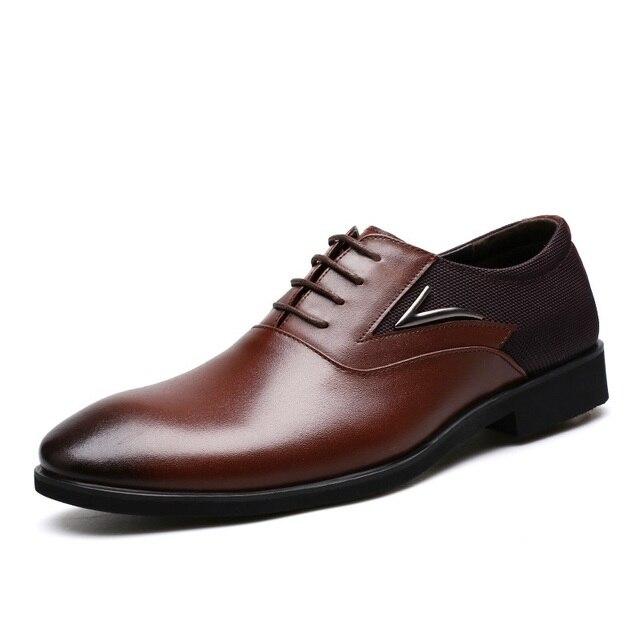 British Men Shoes Dress Vogue Large Yards Leather Shoes Men Top Formal  Banquet Leather Shoes Danc Male Flat Sneaker shoe c5901e555af3