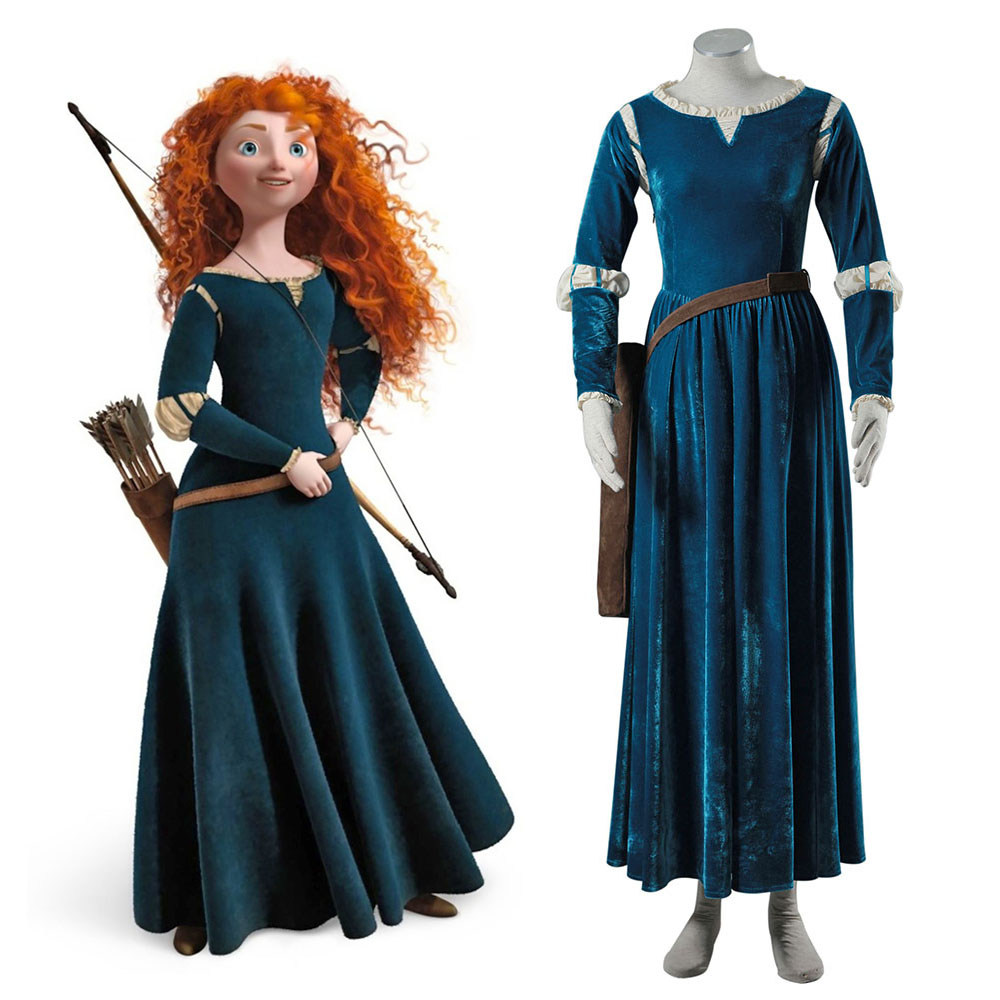 online buy wholesale brave merida costume from china brave merida costume wholesalers. Black Bedroom Furniture Sets. Home Design Ideas