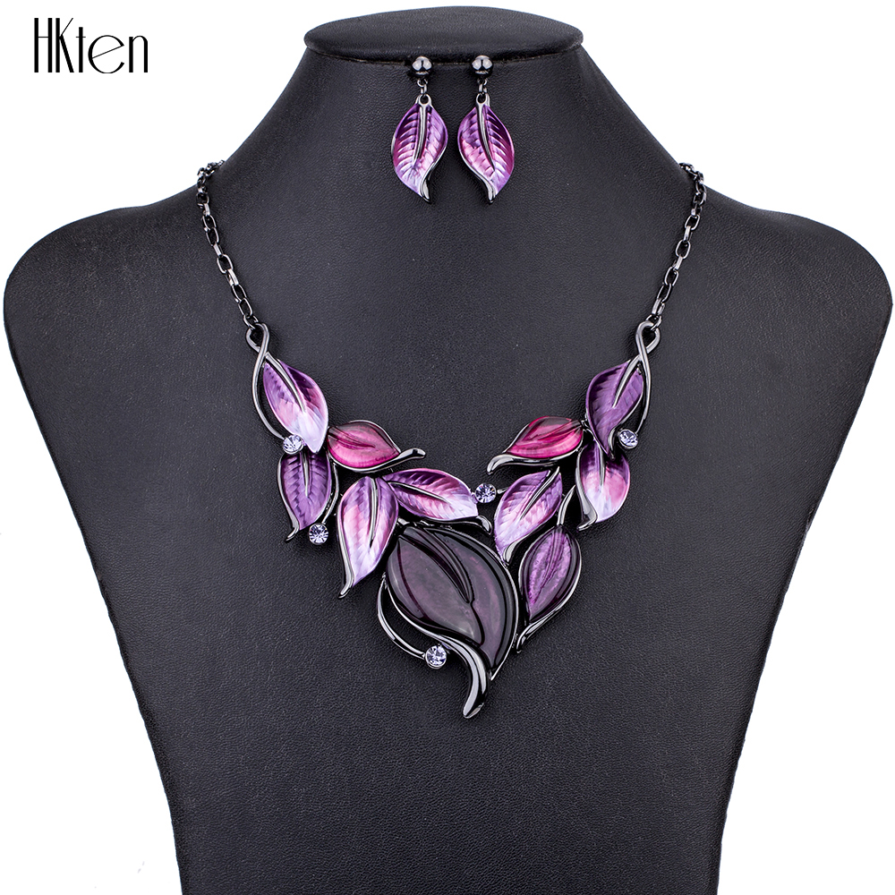 MS1504603 Leaf Jewelry Sets Hight Quality 4 Colors Necklace Sets For Women Jewelry Leaf Design Fresh Colors Christmas GiftsMS1504603 Leaf Jewelry Sets Hight Quality 4 Colors Necklace Sets For Women Jewelry Leaf Design Fresh Colors Christmas Gifts