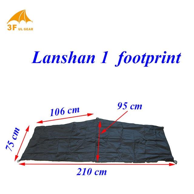 Lanshan 1 original footprint 15d silnylon ultralight groundsheet