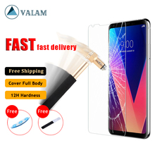 VALAM 3D Curved Tempered Glass For LG V30 V40 G7 G8 V50 ThinQ Screen Protector Film UV Liquid Full Glue Glass for LG H930 Film