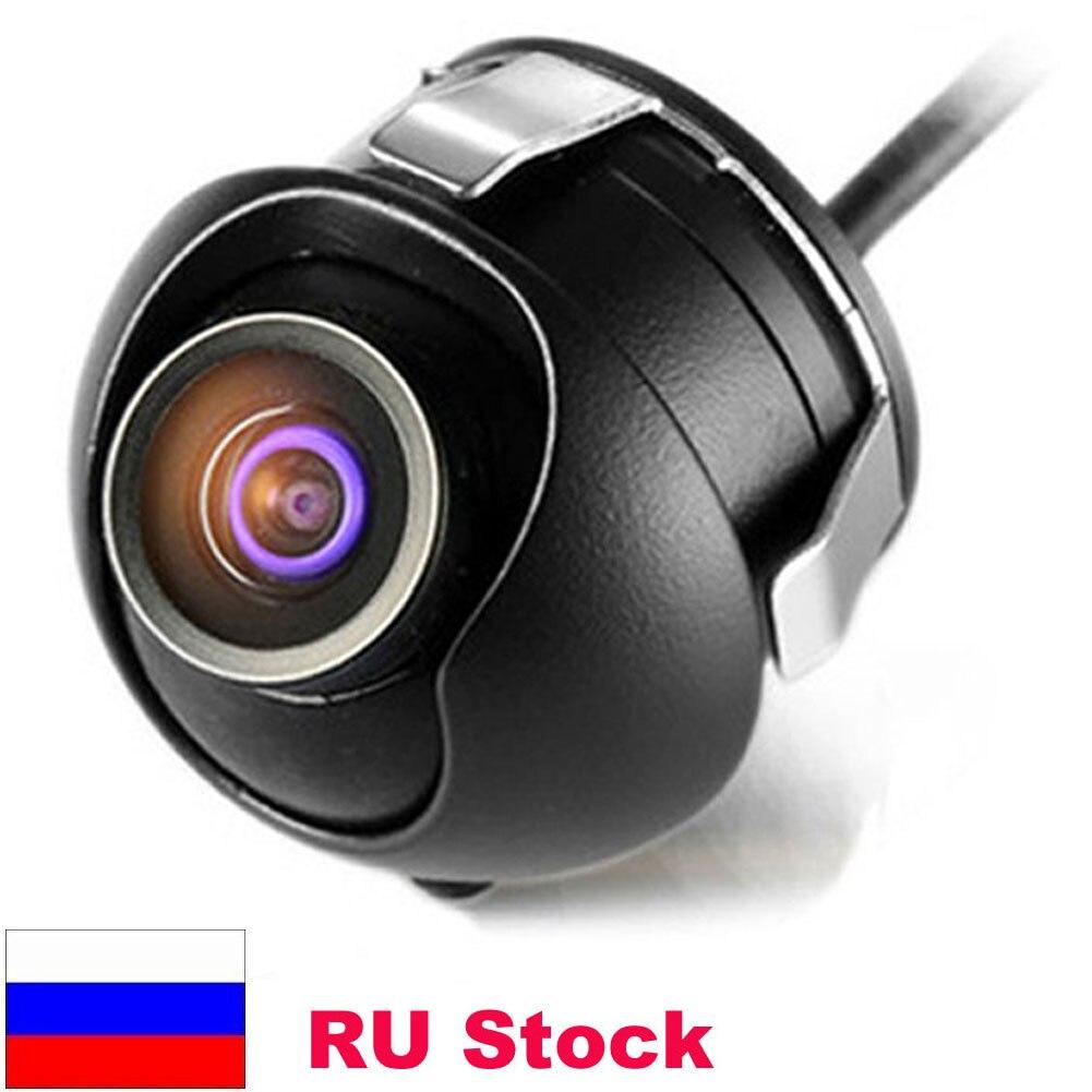 Fábrica promoción CCD HD Visión Nocturna de 360 grados para cámara de visión trasera cámara frontal Vista frontal vista lateral que invierte el respaldo cámara