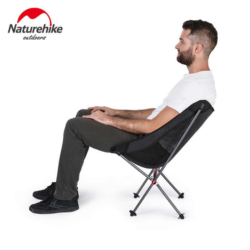 Fábrica NatureHike, silla de pesca portátil, silla plegable con forma de Luna, Camping, senderismo, jardinería, barbacoas, silla de dibujo, taburete plegable