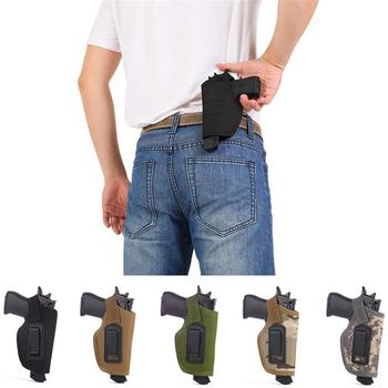 Tactical Compact pistolet kabura saszetka na biodra Glock Gun polowanie akcesoria Outdoor CS pole niewidoczne kabura tanie i dobre opinie 640108 600D military standard nylon waterproof cloth 14*6 5CM