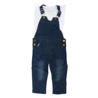 ABWE Best Sale 2PC New Baby Girls Summer Top Pants Set Clothes T Shirt Jeans Casual