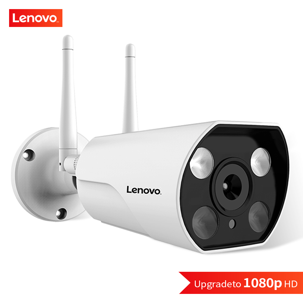 Lenovo ip câmera wi-fi 1080 p onvif sem fio com fio hd à prova dwifi água wifi ip câmera de vigilância ao ar livre segurança visão noturna
