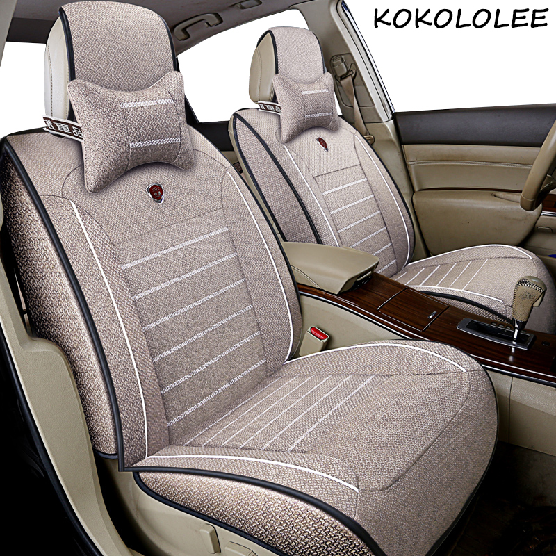 kokololee Universal flax Car Seat cover for Mercedes Benz all models A160 180 B200 c200 c300