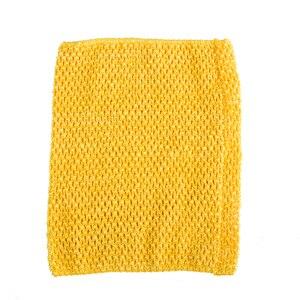 Вязаный топ-труба 9x10 дюймов, топ-пачка для маленьких девочек, вязаная юбка-американка топ-пачка, вязаная крючком повязка на голову, смешанные цвета, 10 шт. в партии - Цвет: Marigold 10pcs