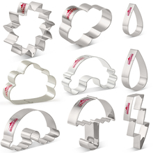 Cookie-Cutter KENIAO Fondant Cloud Cutters-Stainless-Steel Pc-Rainbow Flash-Biscuit Set-7