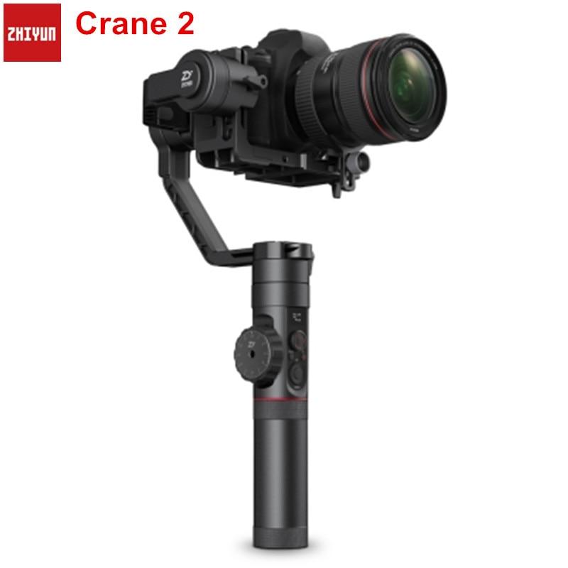Zhiyun Crane 2 Handheld 3-Axis Camera Stabilizer Follow Focus Gyro Gimbal For Nikon Canon Panasonic For DSLR Mirrorless Camera