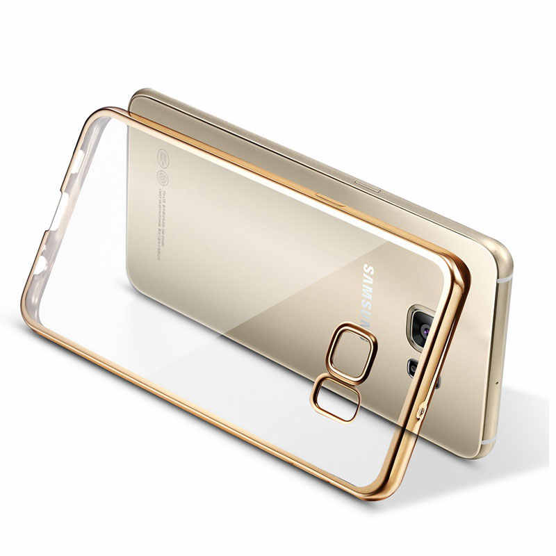 Mewah Plating TPU Kasus untuk Samsung S6 S7 S8 Ditambah Tepi A3 A5 2017 J3 J5 J7 2016 Huawei P8 P9 Lite iPhone 5 5 S 6 6 S 7 Ditambah Kasus
