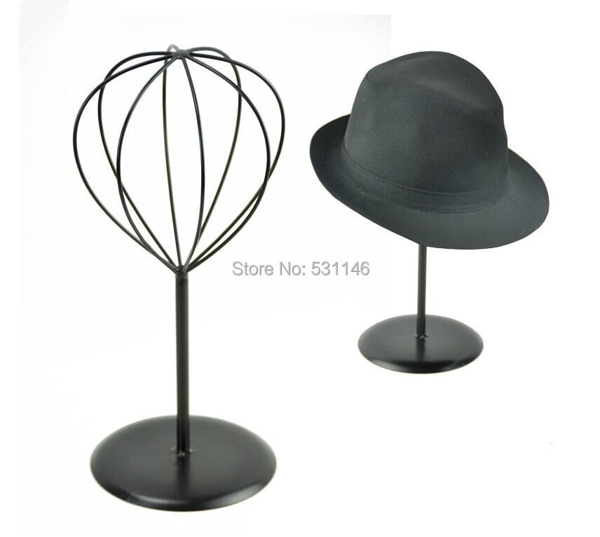 Black Metal Hat &wig&cap Display Stand Holder rack MJ3 7