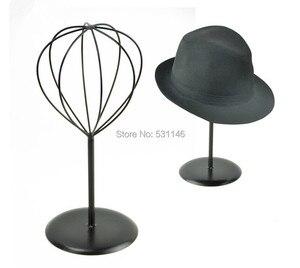 Image 1 - Black Metal Hat &wig&cap Display Stand Holder rack MJ3 7