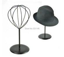 MJ3 7 de support de présentoir de chapeau et de perruque et de chapeau en métal noir