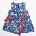 Vestido de jeans muchacha vestido de los niños 100% pantalones de algodón de Invierno ropa para niñas princesa jeans verano vestido 6M-4Y H2763