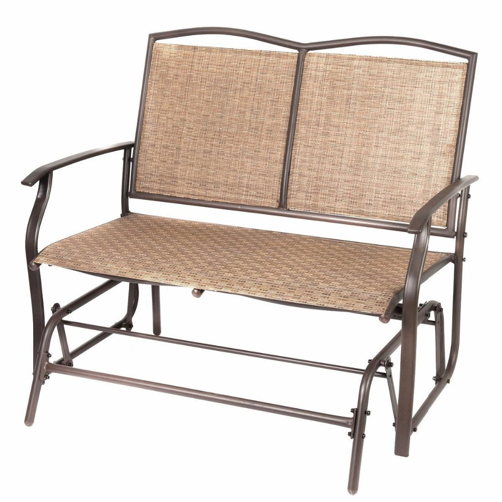 Naturefun Patio Swing Glider Bench Chair Garden Glider Rocking ...