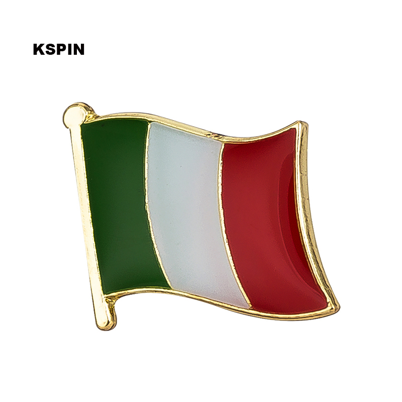이탈리아 깃발 핀 옷 깃 핀 배지 100pcs 많은 브로치 아이콘 KS 0206-에서뱃지부터 홈 & 가든 의  그룹 1