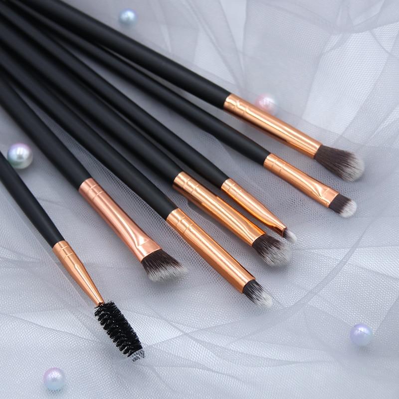 BBL 7 Essential Makeup Eye Brush Set - Eyeshadow Eyelash Eyeliner Tapered Blending Crease Kit Make Up Brushes Pincel Maquiagem 3