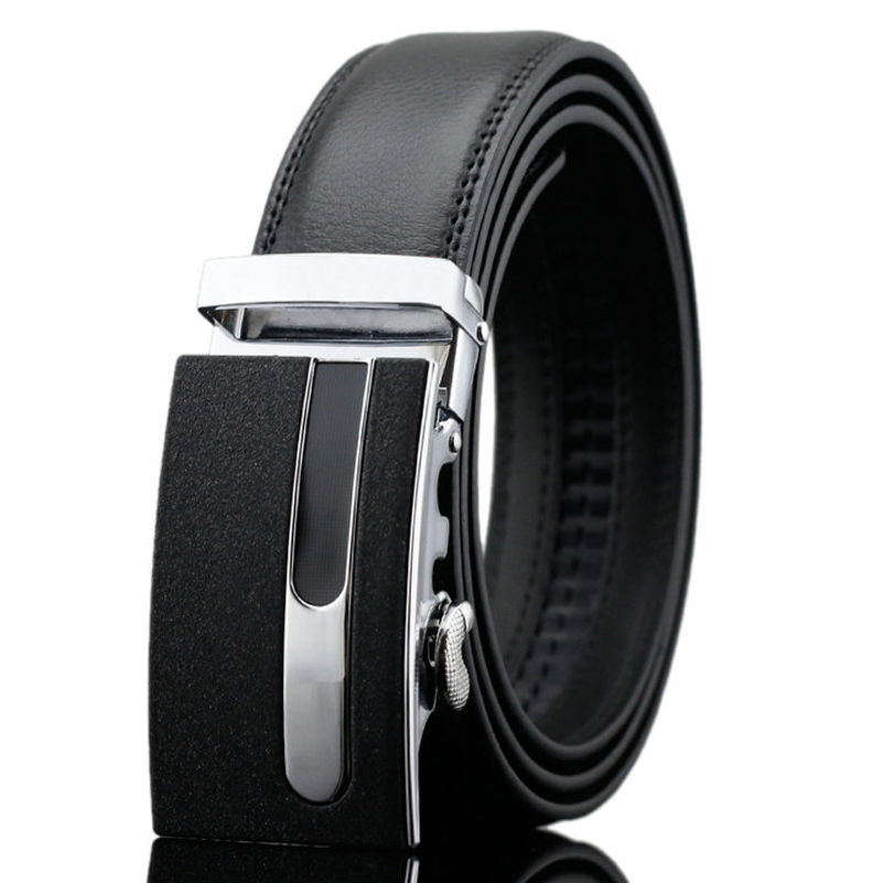 New Fashion 38-54 Mens Black Brown Genuine Leather Ratchet Belts Automatic Buckle Luxury Large Belts for Jeans High Quality