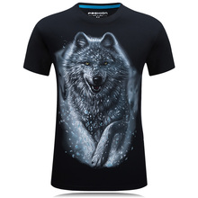 one piece T-Shirt Men Wolf 3D Printed Cotton Funny T shirts Unisex tee shirt homme Brand Clothing summer top camisetas hombre