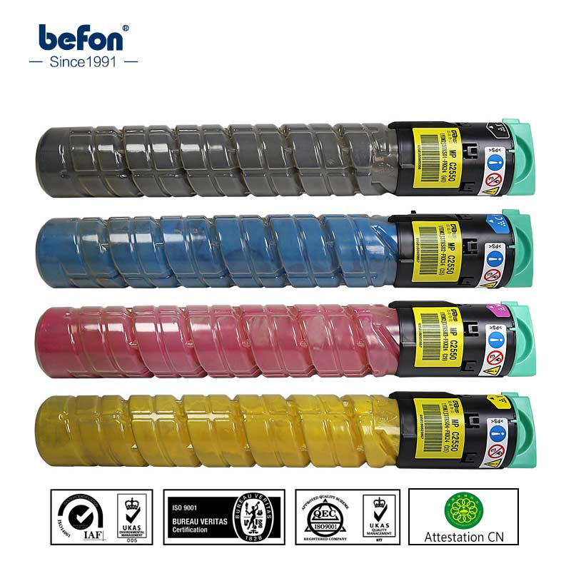 befon color toner powder MPC2550 2550 BK C M Y Compatible for Ricoh toner cartridges Aficio C2010 C2030 C2050 C2530 C2550 цена и фото