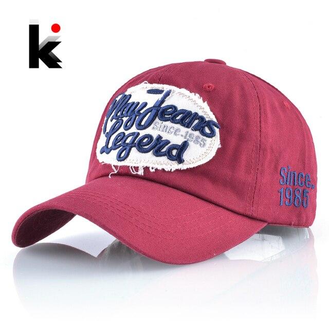 e442fb61867 Cotton Baseball Cap Men Play Jeans Legend Snapback Hats Women Hip Hop Hat  Outdoor Denim Sport Bones Mosculino Gorras Casquette
