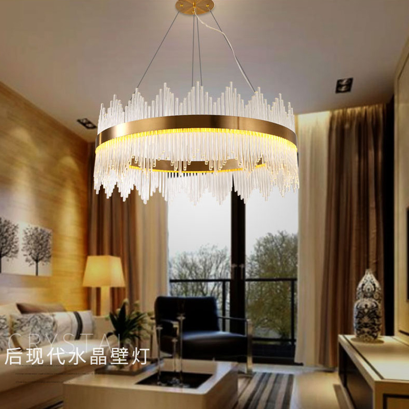 chandelier lighting crystal drops for living room crystal chandeliers lamp fixtures AC 90 260V
