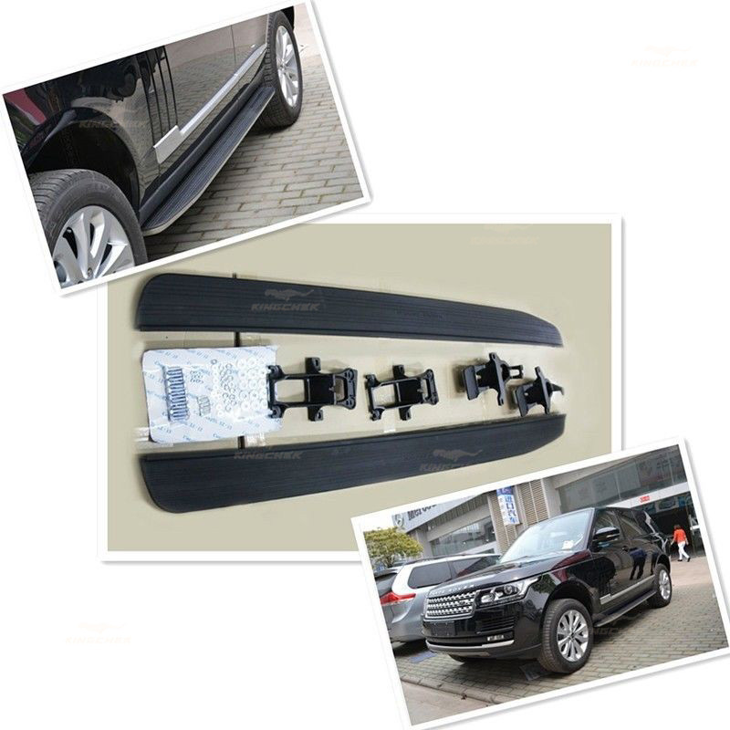 Deployed Side Steps For Range Rover Genuine Accessory: High Quality Aluminium Running Board Side Step Bar For