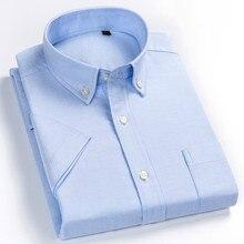 Pure color & Plaid shirt 100% Cotton Short Sleeve Shirt Men Summer Checker Korean Ultra-thin Mens Casual Slim Fit