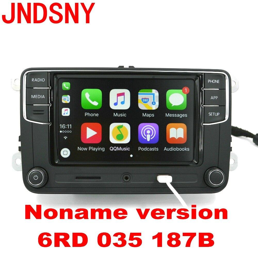 JNDSNY CarPlay Noname RCD330 RCD330G Plus CarPlay APP 6.5 MIB Car Radio For Golf 5 6 Jetta CC Tiguan Passat Polo 6RD 035 187B