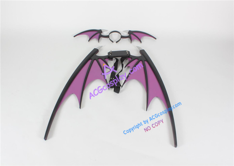 Vampire Darkstalker Morrigan Aensland Wings and Headband prop cosplay prop pvc made ACGcosplay