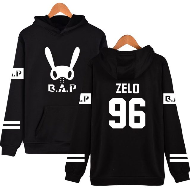 Two Step Kpop B.A.P Bunny Member Name Printing Pullover B.A.P Fashion Autumn Winter Clothing Hot Sale Brand Hooded Sweatshirs