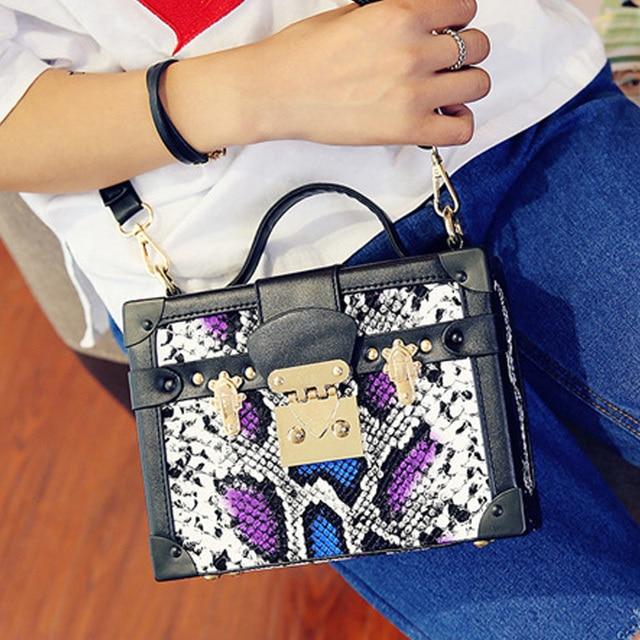 Women Evening Bag Designer Handbags High Quality Fashion Serpentine Party  Bag Crocodile Crossbody Bags Ladies Charm