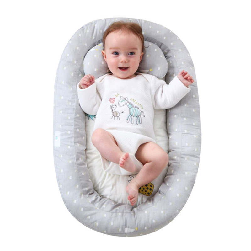 74*51cm Baby Nest Bed Portable Crib Travel Bed Infant Toddler Cotton Cradle For Newborn Baby Bassinet Bumper Bed 0-6 Month 2019