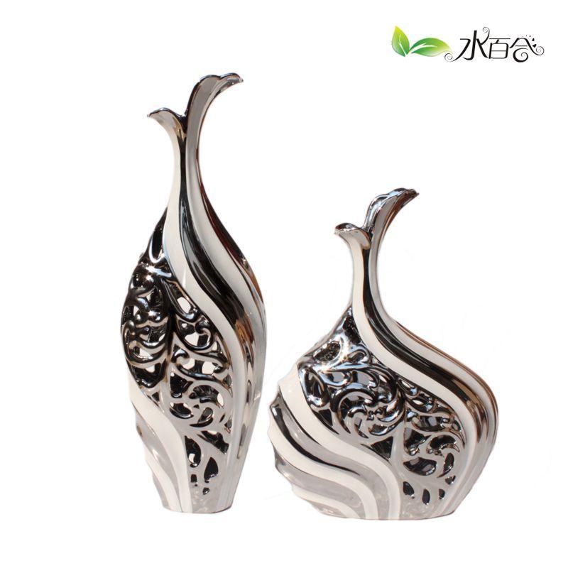Jingdezhen Ceramic Large Floor Vase Crafts Accessories Home