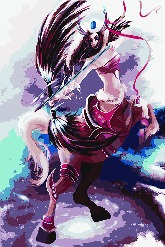 The Horse S Body Woman S Head Oli Painting Coloring By Numbers On Canvas Diy Hand Painted Cuadros Decoracion Cheap Oil Painting Painting Calligraphy Aliexpress