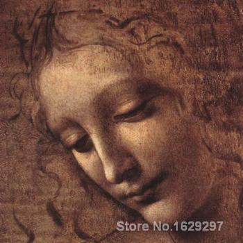 wall art modern Testa di Faniciulla Detta detail Leonardo Da Vinci Paintings Hand painted High quality