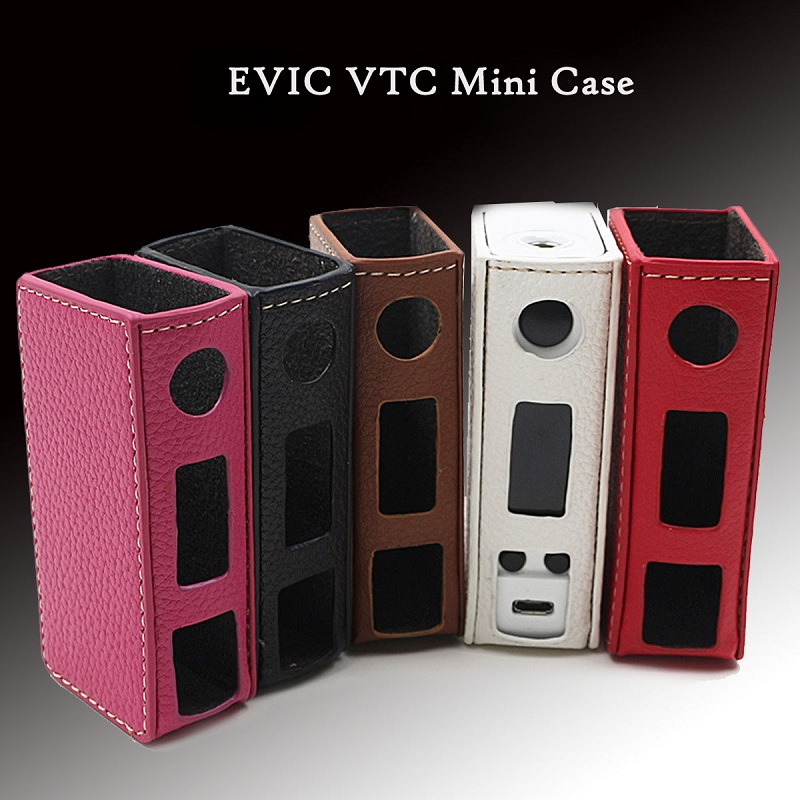 Factory Price Mini PU Leather Sleeve Bag Hot Electronic Cigarette Pouch Case For EVIC VTC Mini Protective Cover Nov4