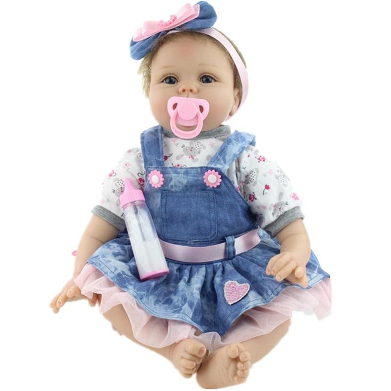 2016 22 55cm Simulation Baby Dolls Silicone Baby Dolls Reborn Babies Newborn Toys for Children Brinquedos Best Gift Juguetes койнония 55 2016