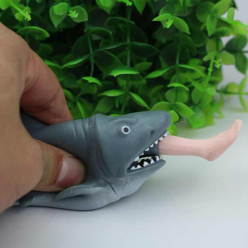 Espremer Brinquedos Ventilação descompressão Comer Pessoas Tubarão-A Cor Da Imagem