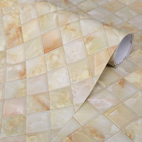 Thick Kitchen Backsplash Decorative Film Self Adhesive Marble Wall Papel PVC Wallpaper for Bedroom Furniture Desktop Stickers