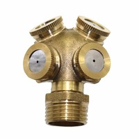 5 Pcs 1 2 Inch Mist Water Sprayer 4 Head Horticultural Atomization Nozzle Garden Spray Cooling
