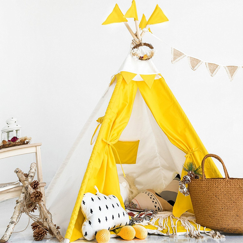 Cotton Canvas Teepee Kids Childrens Teepee Play Tent rubin childrens friendships cloth