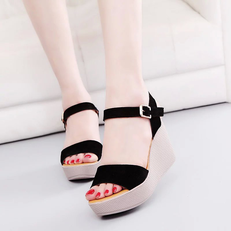 Fashion Wedges Sandals Shoes Woman Summer Platform Sandals Women Open Toe High Gladiator Sandals 2017 gladiator summer shoes woman platform sandals women flats soft leather casual open toe wedges sandals women shoes r18