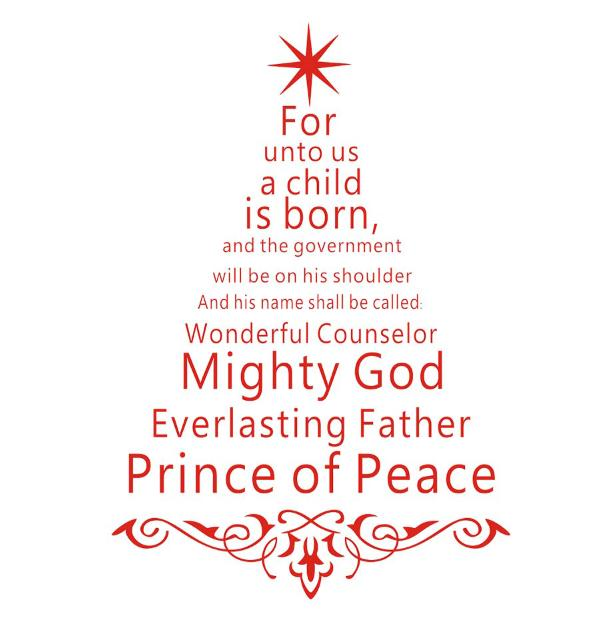 Jesus Christmas Quote.Us 12 83 23 Off Jesus Christ Faith Quote Christmas Tree Diy Wall Sticker For Living Room Window Decoration Poster Christmas Stickers Home Decor In
