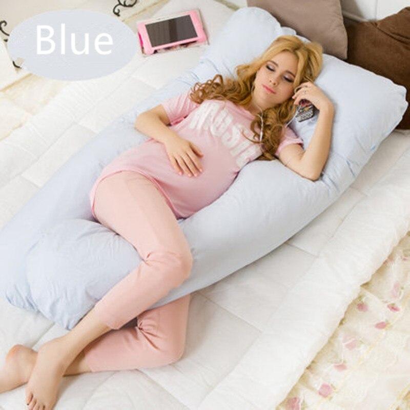 U-form Mutterschaft kissen schwangerschaft Komfortable Body schwangerschaft kissen Frauen schwangere Seitenschläfer kissen 130*70 CM